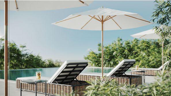 Sonnenschirm Dominica, ohne Schirmständer