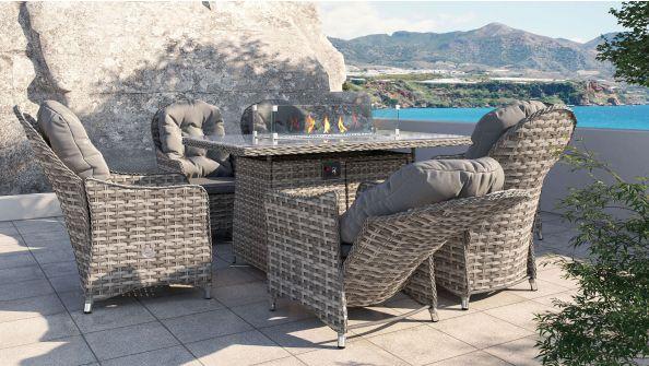 Velia Relax L mit Feuertisch