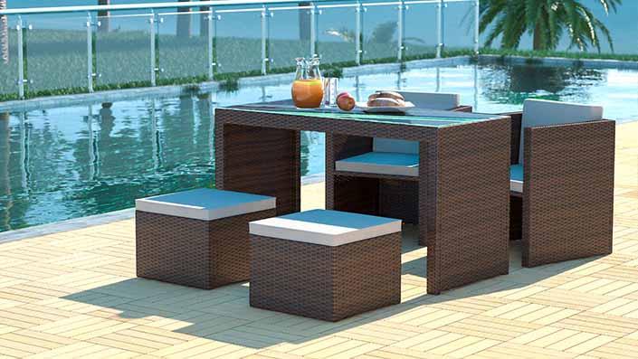 artelia austria rattan esstisch set und essgruppen aus polyrattan g nstig kaufen. Black Bedroom Furniture Sets. Home Design Ideas