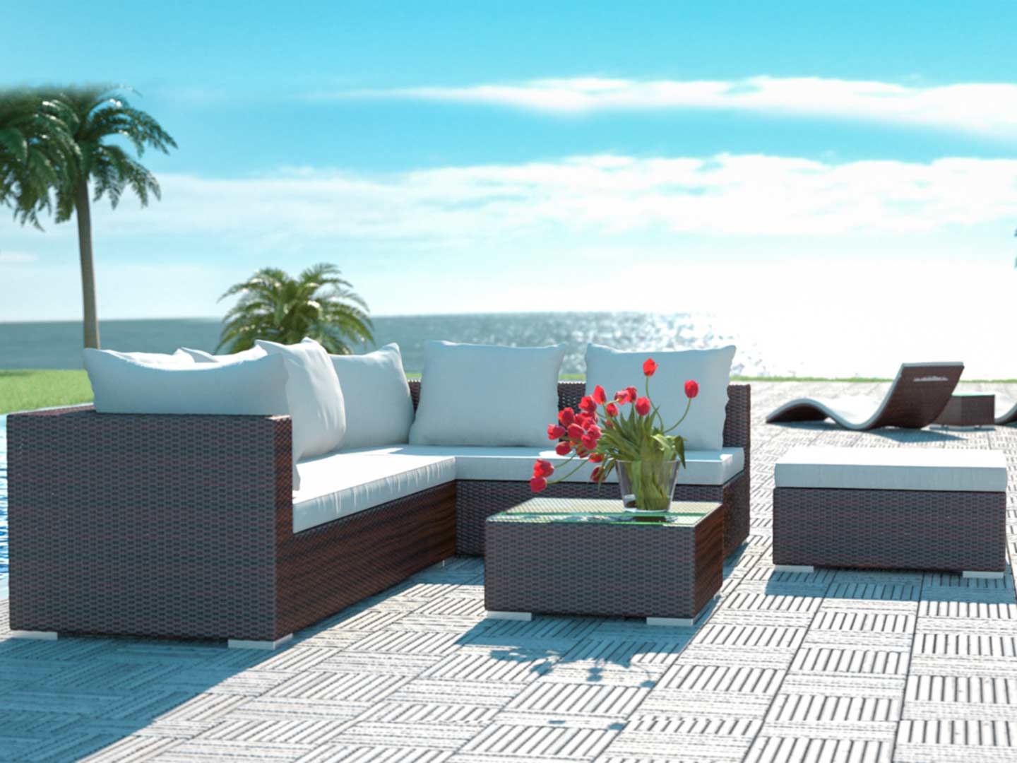 artelia austria rattan terrassensitzgruppe f r garten terrasse und wintergarten. Black Bedroom Furniture Sets. Home Design Ideas