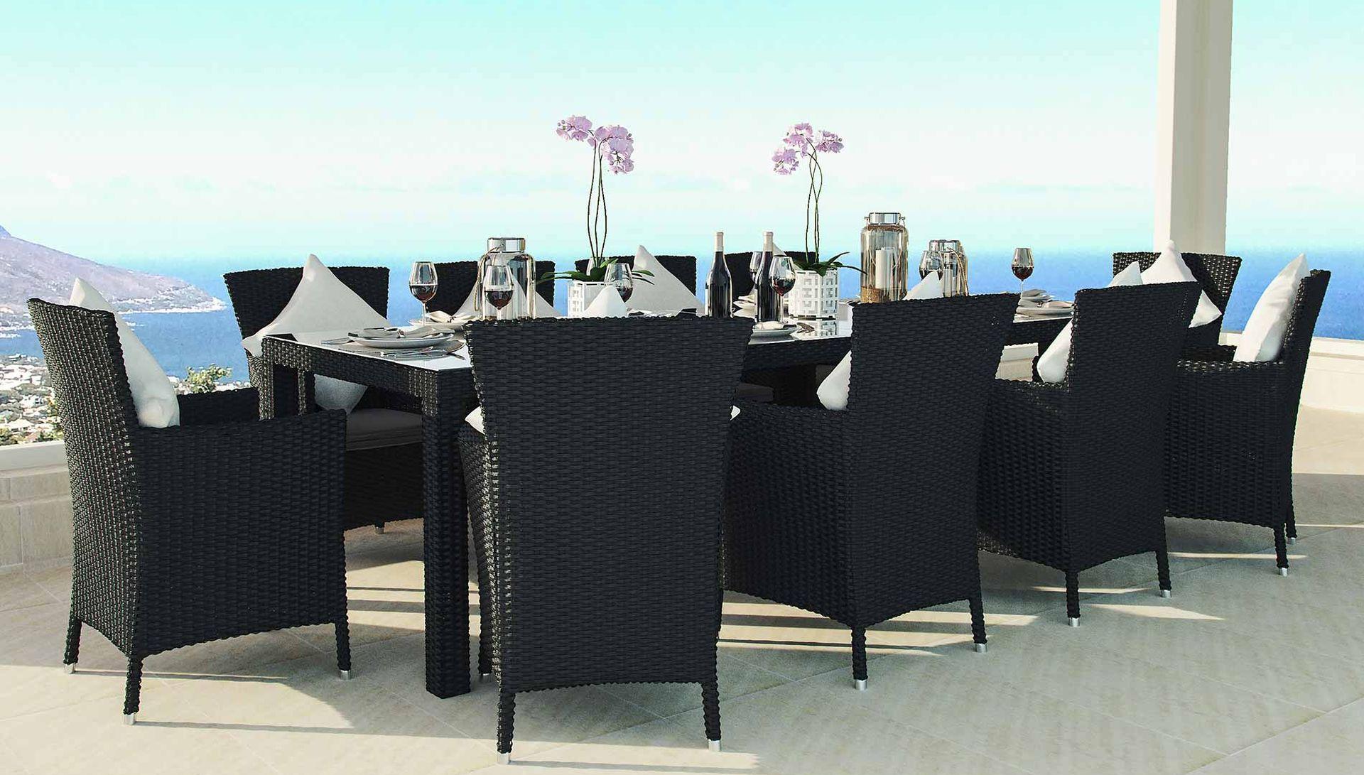 ARTELIA AUSTRIA   Terrassen Esstisch Set für 10 Personen aus Polyrattan