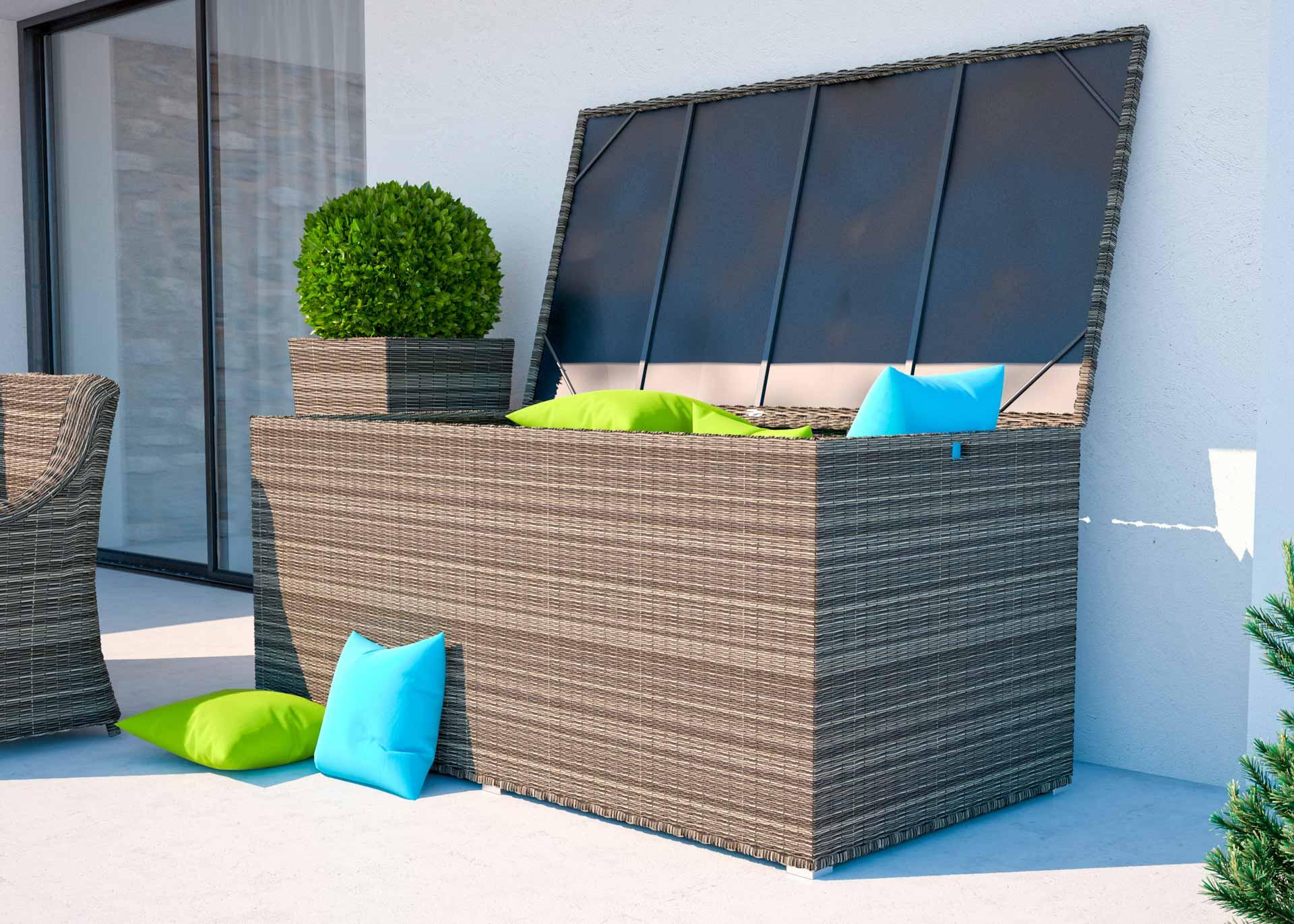 artelia austria rattan auflagenbox f r kissen und auflagen aus polyrattan. Black Bedroom Furniture Sets. Home Design Ideas