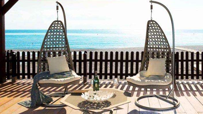 artelia austria h ngesessel aus rattan mit gestell aus wetterfesten polyrattan. Black Bedroom Furniture Sets. Home Design Ideas