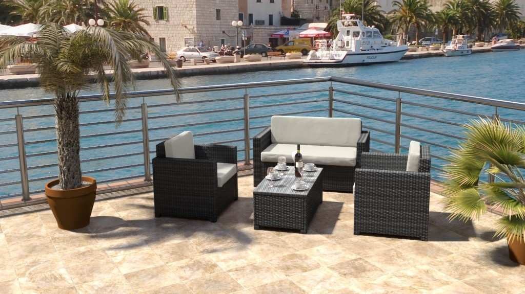 artelia austria polyrattan sitzgruppe f r terrasse und balkon. Black Bedroom Furniture Sets. Home Design Ideas
