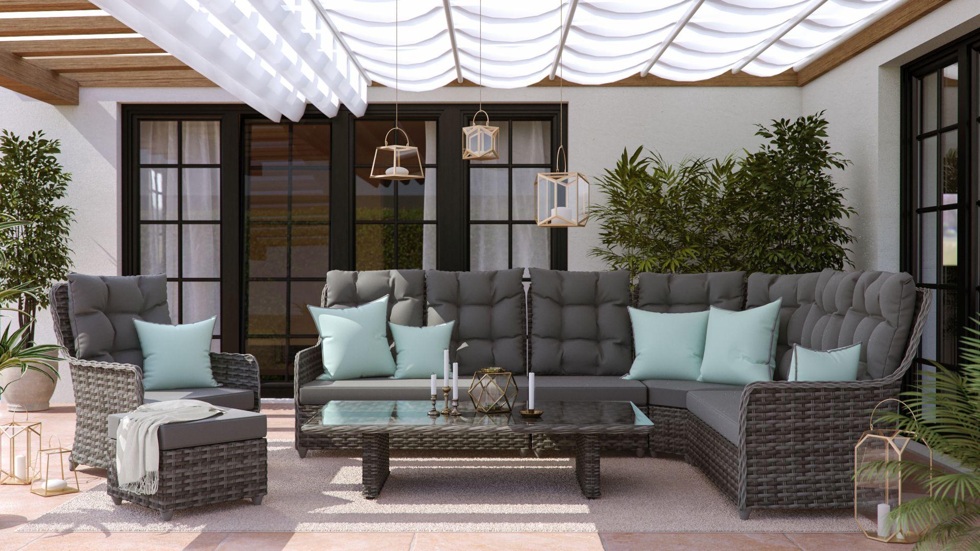 artelia austria gartenm bel esstisch set im lounge design g nstig im rattan shop kaufen. Black Bedroom Furniture Sets. Home Design Ideas