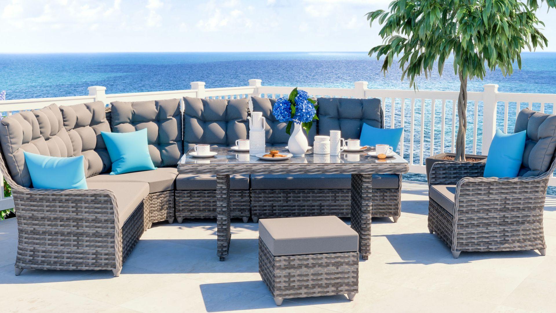 ARTELIA AUSTRIA | Gartenmöbel Esstisch Set im Lounge Design