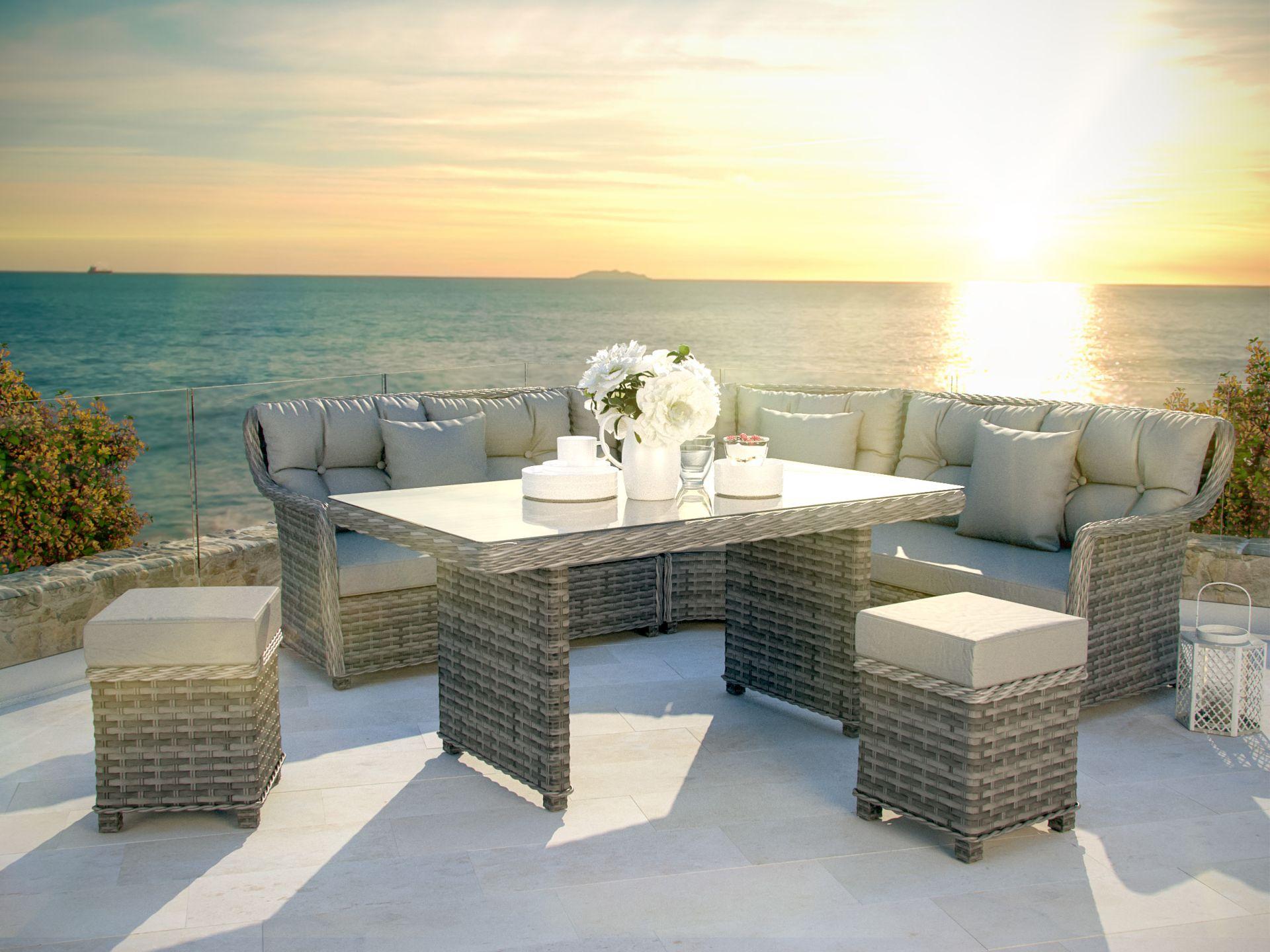 ideen : lounge gartenmobel mit esstisch haus design ideen mit ...