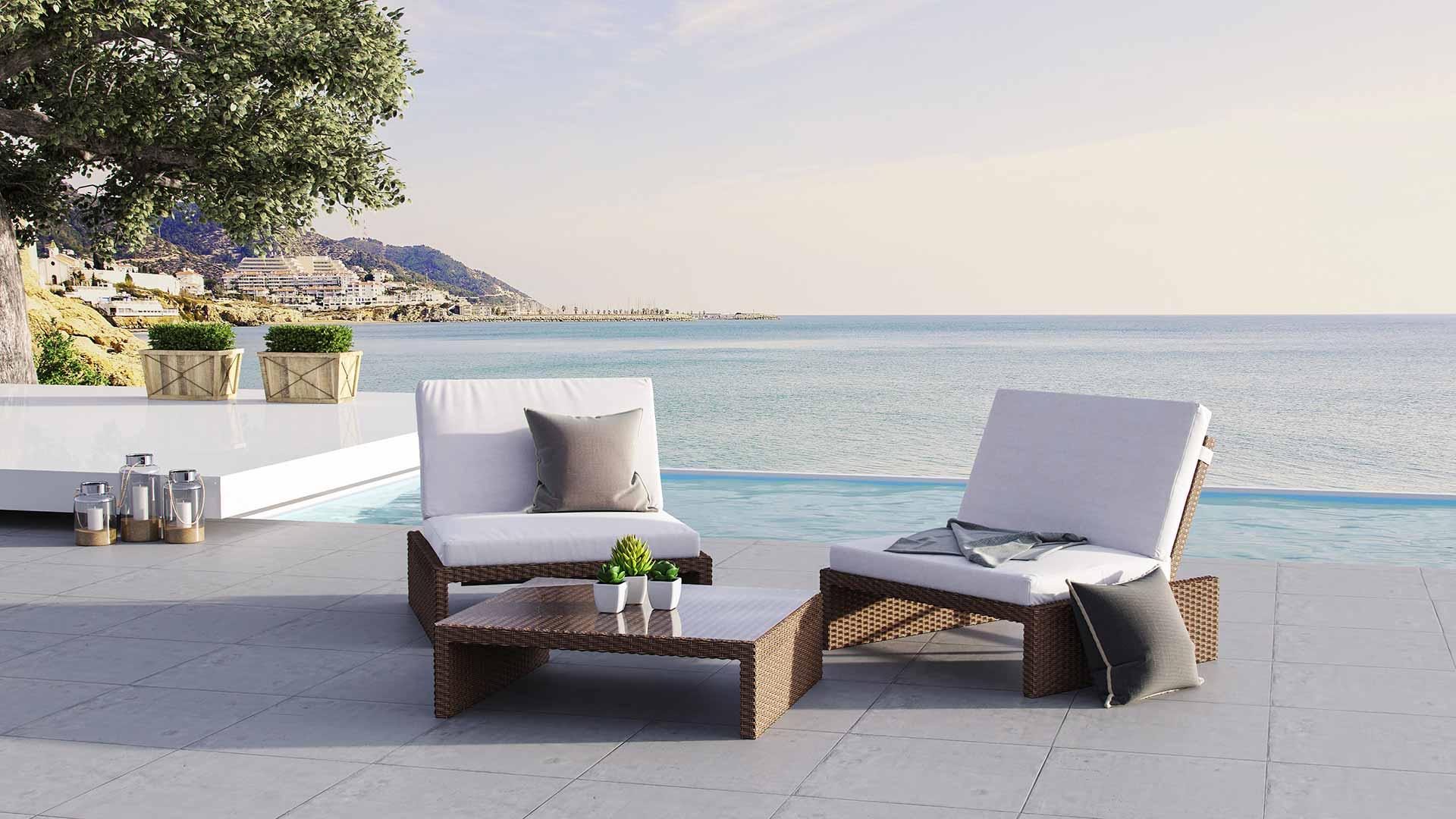Loungemöbel Set artelia austria loungemöbel set estoria s für terrasse und garten