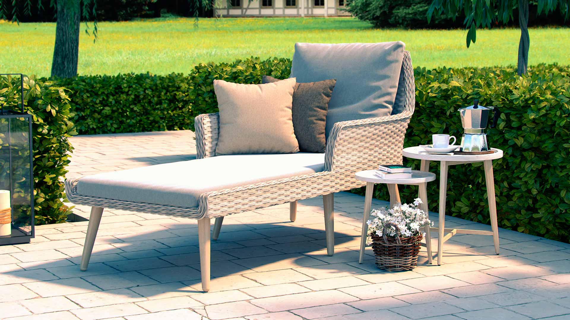 artelia austria polyrattan liege f r terrasse und balkon. Black Bedroom Furniture Sets. Home Design Ideas