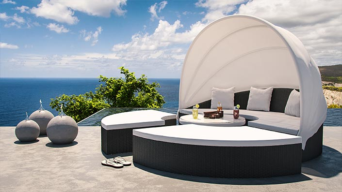 Hummel - Polyrattan Lounge
