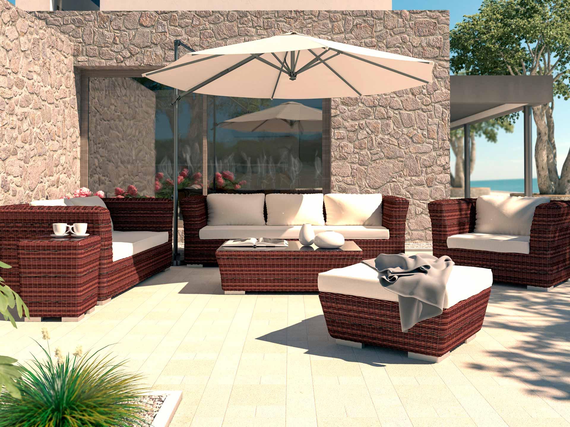 artelia austria terrassenm bel sitzgruppe rigantona aus polyrattan. Black Bedroom Furniture Sets. Home Design Ideas