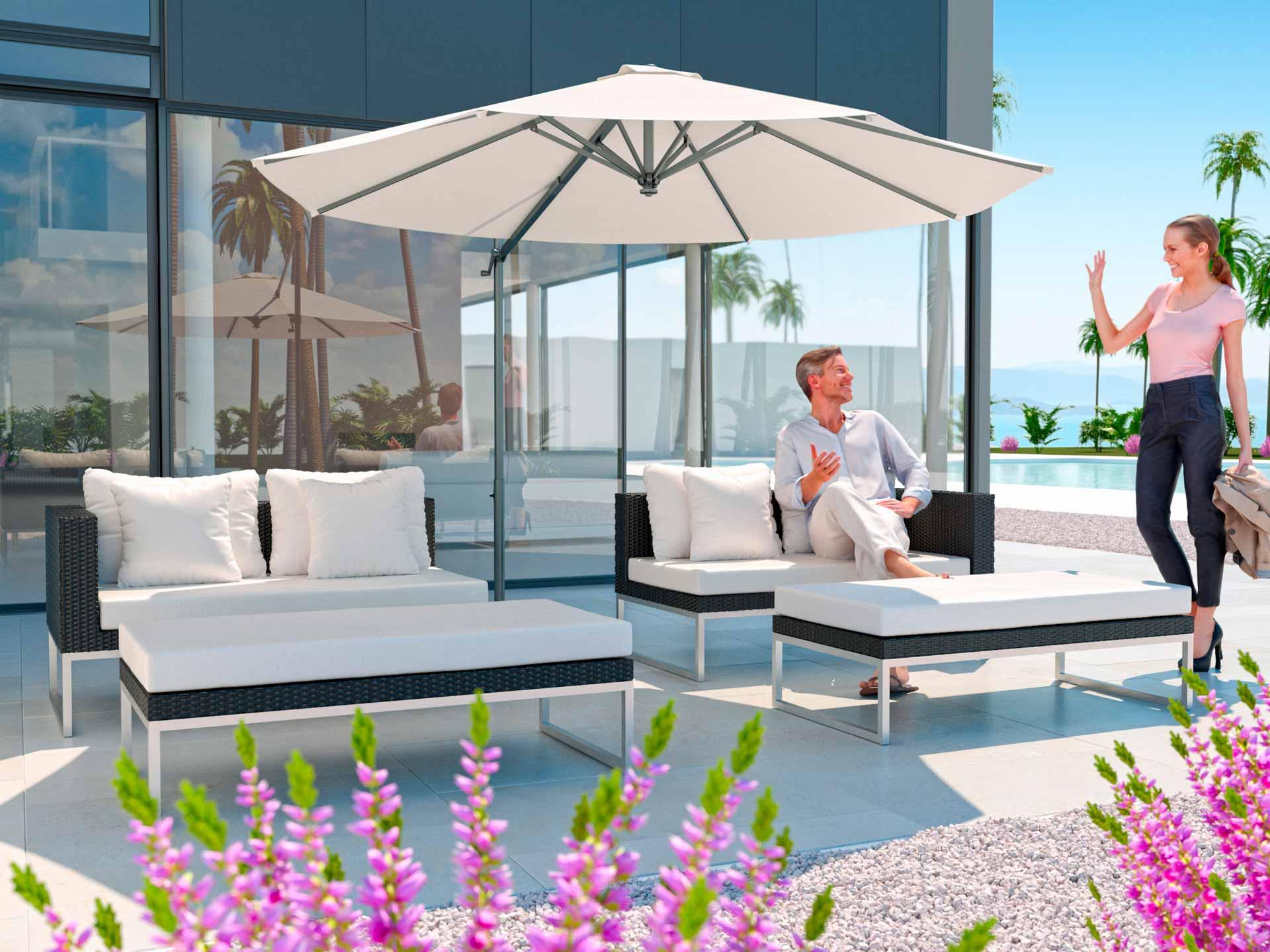 ARTELIA AUSTRIA | Rattan Sonneninsel im Lounge Stil für Garten und ...