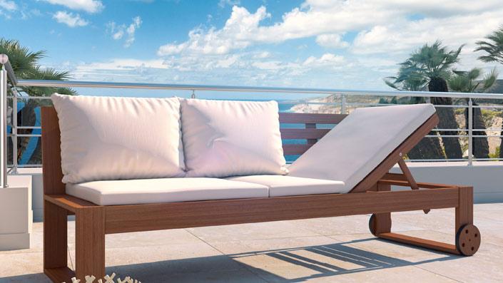 Solea - Bank mit höhenverstellbarer Sitzfläche