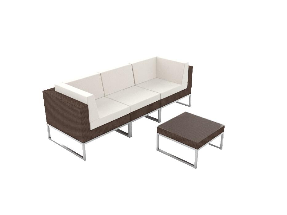 Artelia Austria Rattan Polyrattan Couch Alivera Xs F R