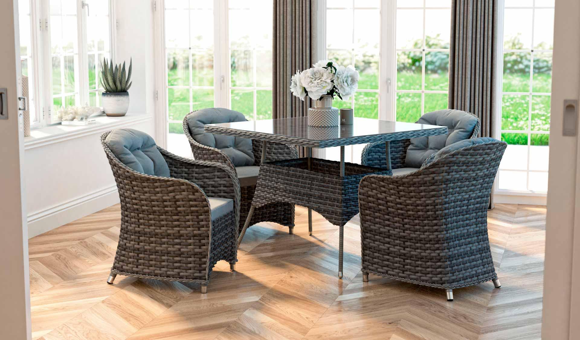 artelia austria rattan essgruppe ocean line velia m f r 4 personen mit tisch und st hlen aus. Black Bedroom Furniture Sets. Home Design Ideas